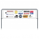 Banner Sling with 2' x 8' Graphic, Spike Base