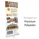 "33.5"" w x 80"" h Retractable Banner & Stand - Double Sided"