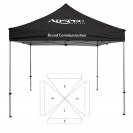 10' x 10' Extreme Canopy and Frame - 5 Imprint Locations