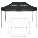 10' x 15' HD Canopy and Frame - 10 Imprint Locations