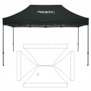 10' x 15' HD Canopy and Frame - 1 Imprint Location