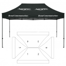 10' x 15' HD Canopy and Frame - 6 Imprint Locations