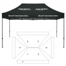 10' x 15' HD Canopy and Frame - 7 Imprint Locations