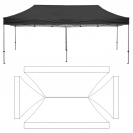 10' x 20' HD Canopy and Frame - Blank