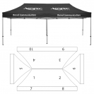 10' x 20' HD Canopy and Frame - 10 Imprint Locations