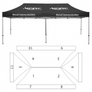 10' x 20' HD Canopy and Frame - 11 Imprint Locations
