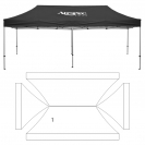 10' x 20' HD Canopy and Frame - 1 Imprint Location