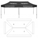 10' x 20' HD Canopy and Frame - 4 Imprint Locations