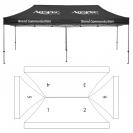 10' x 20' HD Canopy and Frame - 6 Imprint Locations