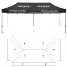 10' x 20' HD Canopy and Frame - 8 Imprint Locations