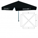 "78"" 4 Sided Umbrella - 3 Imprint Locations"