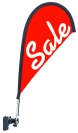 "30"" Teardrop Wind Flag Kit - Double Sided - Adjustable Clip"
