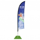 7' Shark Fin Wind Flag Kit - Single Sided
