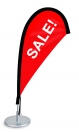 "18"" Teardrop Wind Flag Kit - Double Sided"