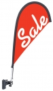 "30"" Teardrop Wind Flag Kit - Single Sided - Adjustable Clip"