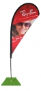 14' Tear Drop Wind Flag Only - Single Sided